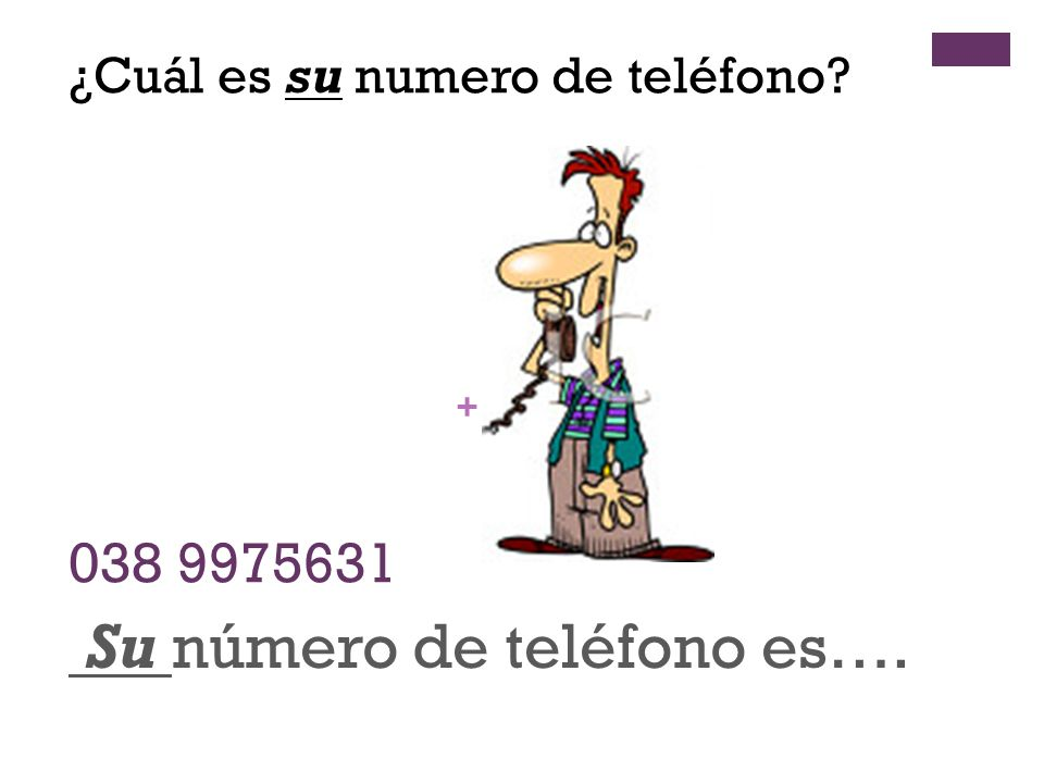 Su número de teléfono es….