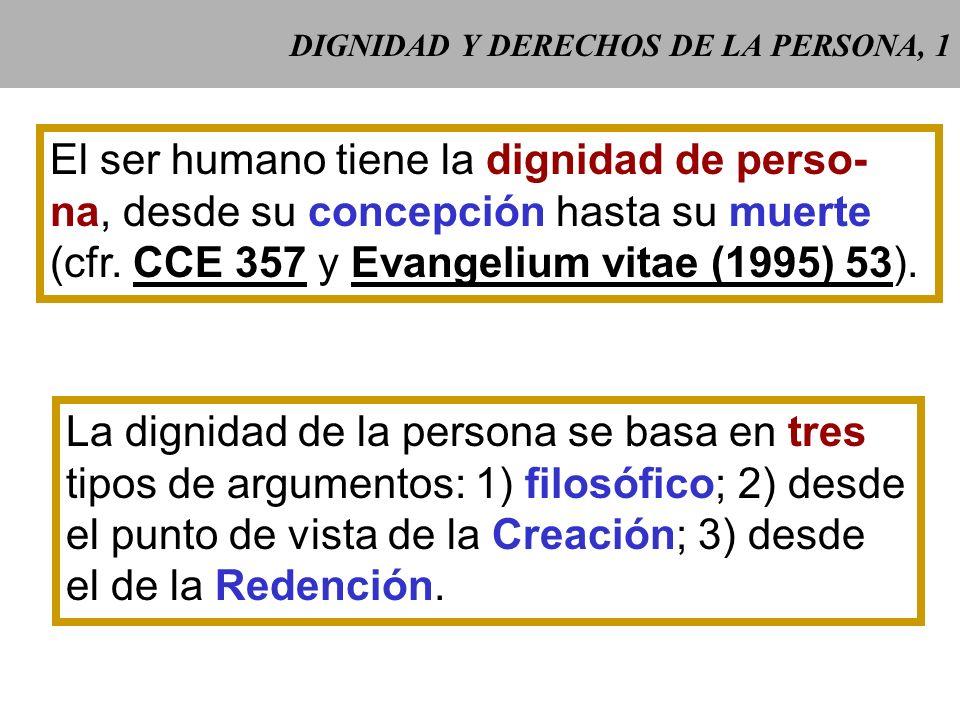 DIGNIDAD Y DERECHOS DE LA PERSONA, 1