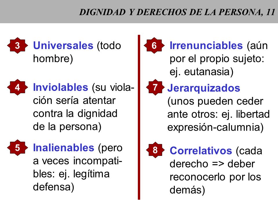DIGNIDAD Y DERECHOS DE LA PERSONA, 11