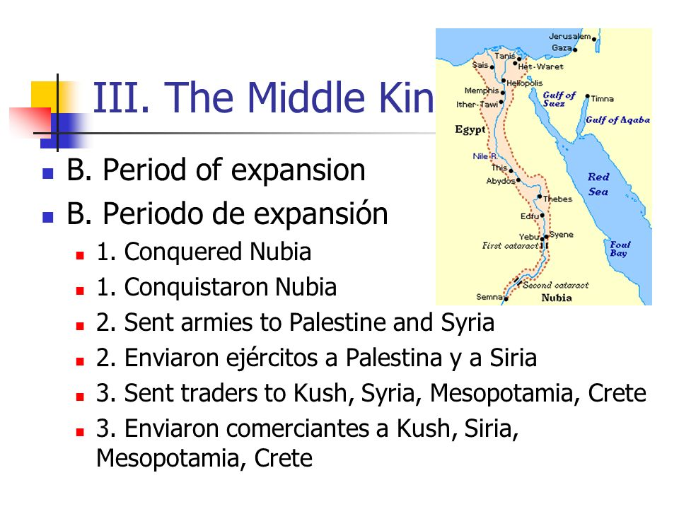 III. The Middle Kingdom B. Period of expansion B. Periodo de expansión