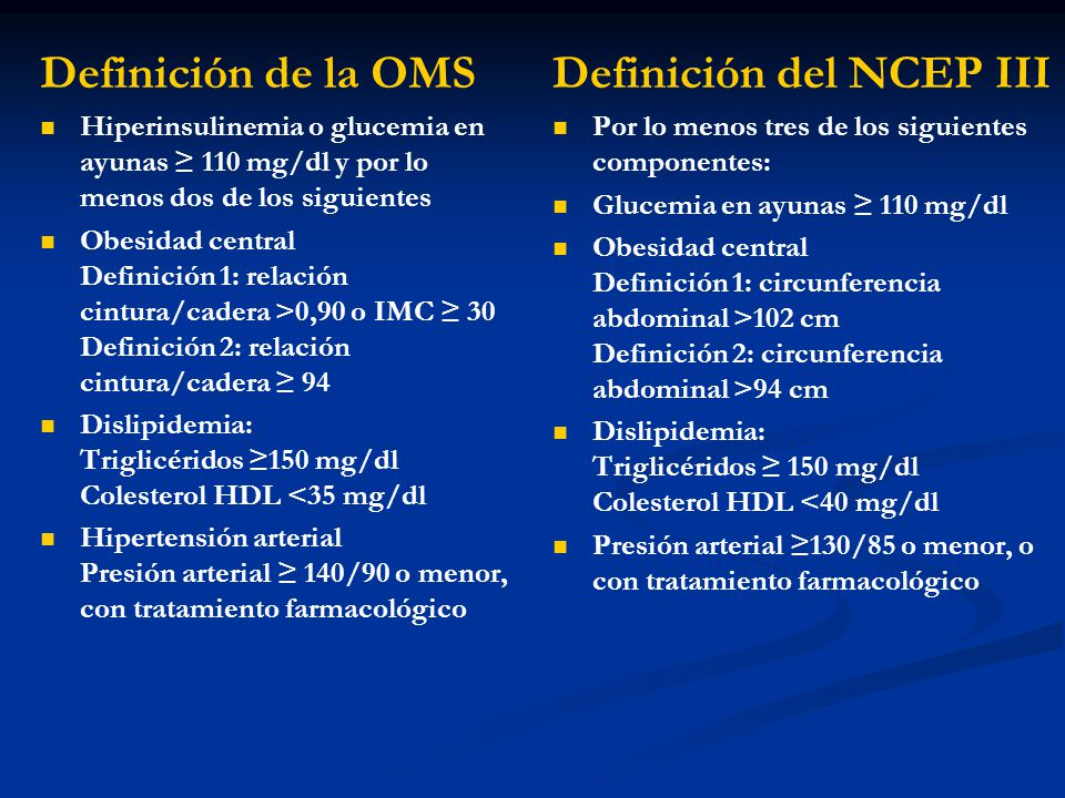 Definición del NCEP III