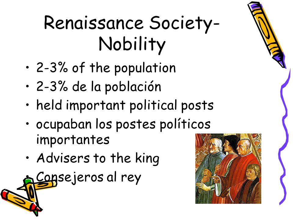 Renaissance Society-Nobility