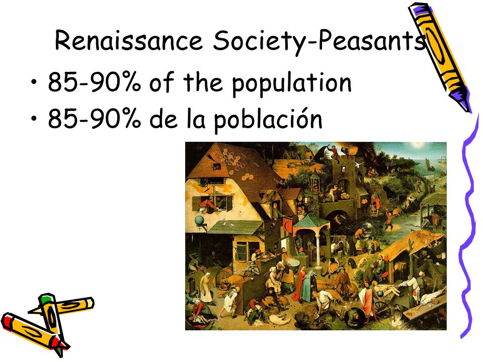 Renaissance Society-Peasants