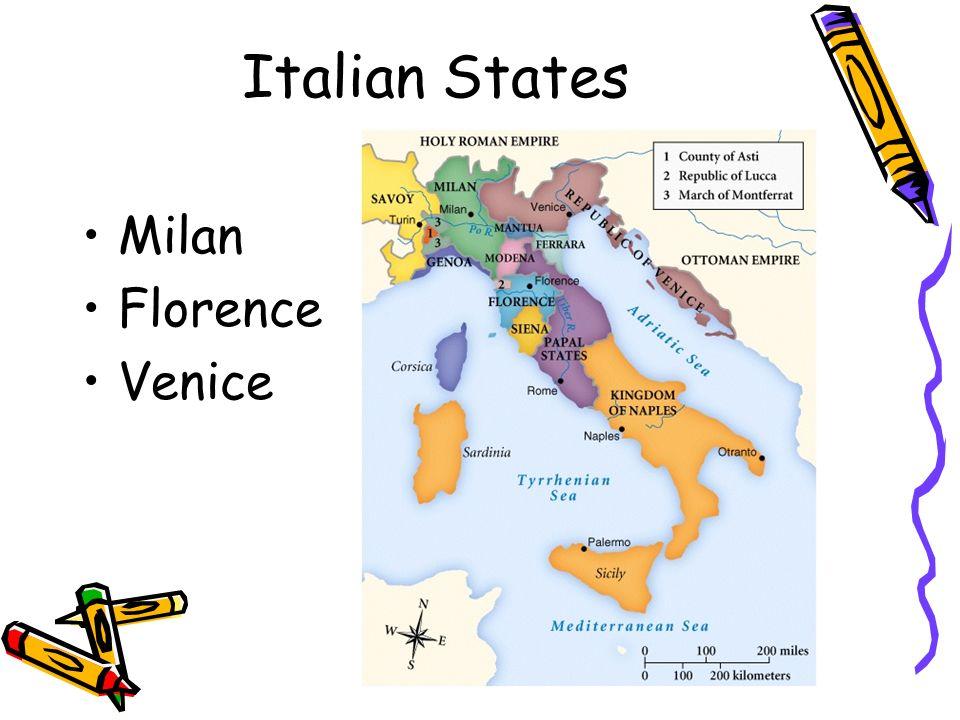 Italian States Milan Florence Venice