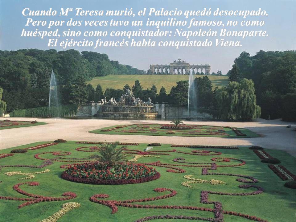 Cuando Mª Teresa murió, el Palacio quedó desocupado