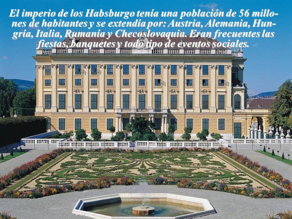 El imperio de los Habsburgo tenía una población de 56 millo-nes de habitantes y se extendía por: Austria, Alemania, Hun-gría, Italia, Rumanía y Checoslovaquia.