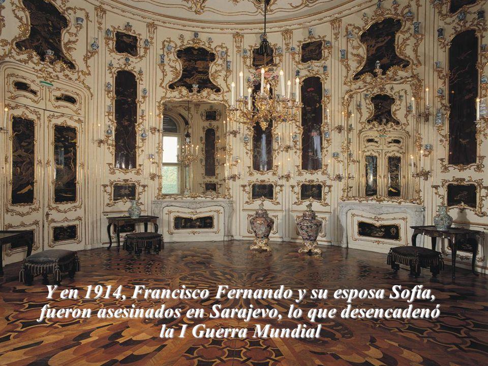 Y en 1914, Francisco Fernando y su esposa Sofía, fueron asesinados en Sarajevo, lo que desencadenó la I Guerra Mundial