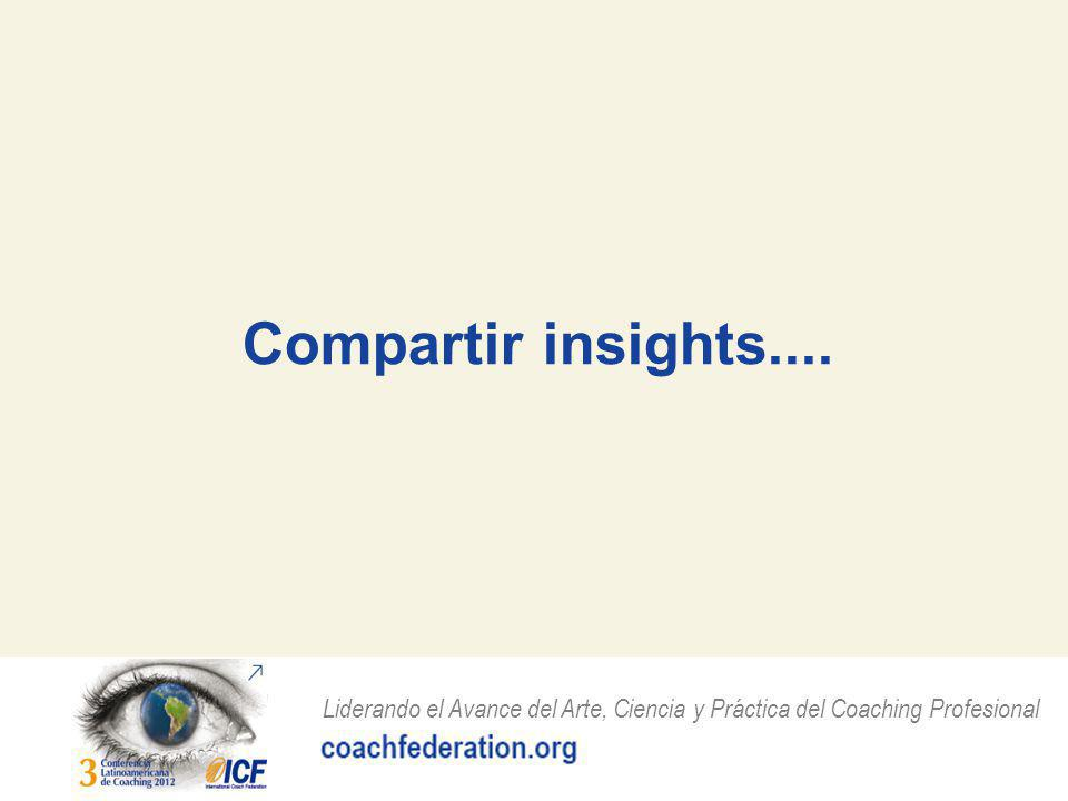 Compartir insights....