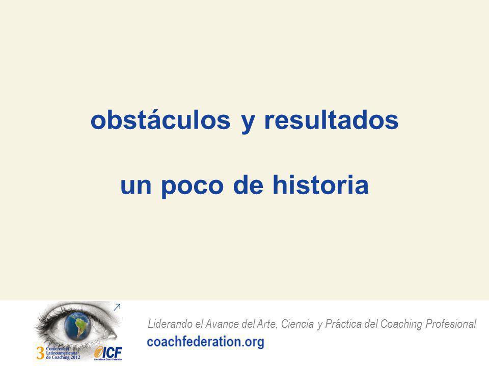 obstáculos y resultados un poco de historia