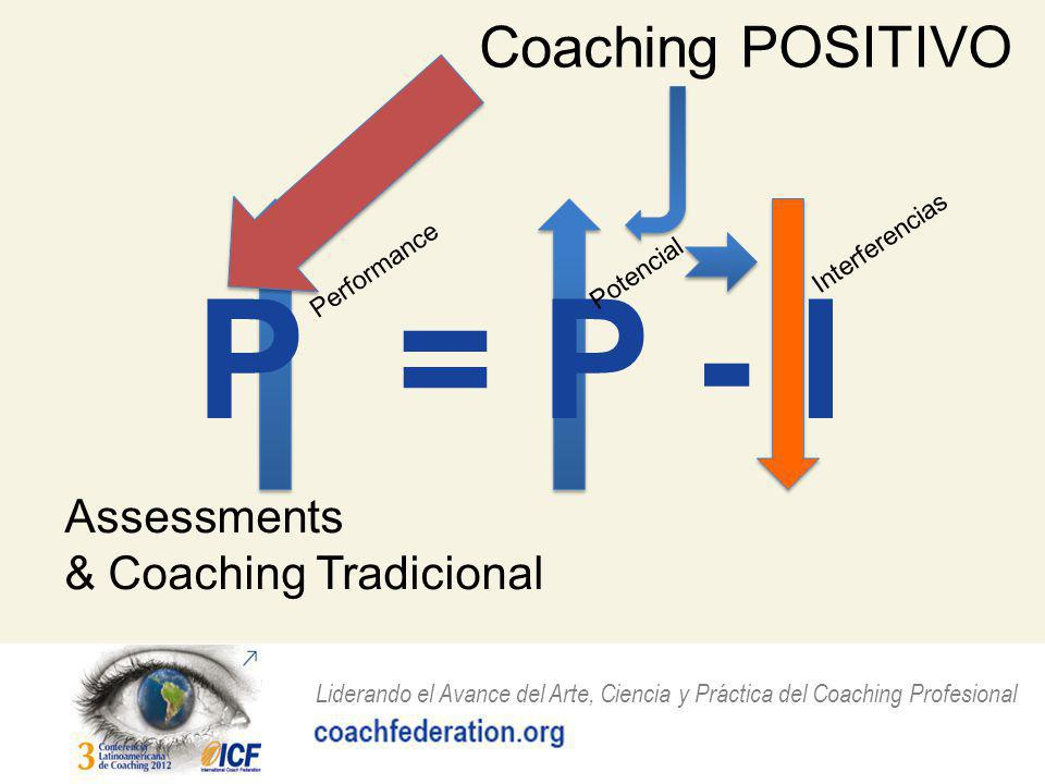 P = P - I Coaching POSITIVO Assessments & Coaching Tradicional
