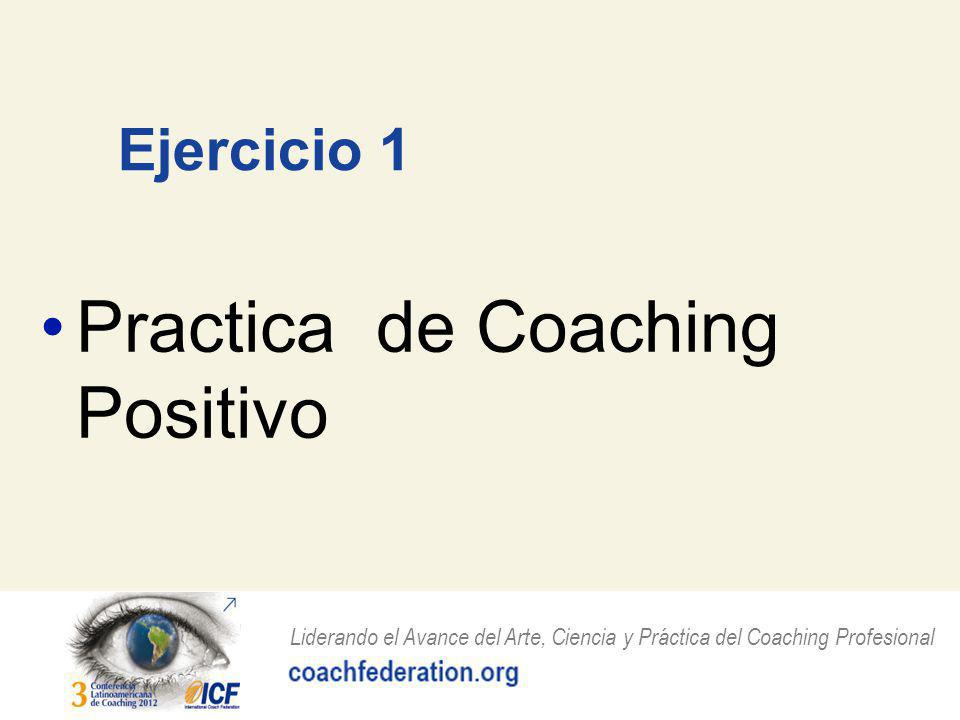 Practica de Coaching Positivo