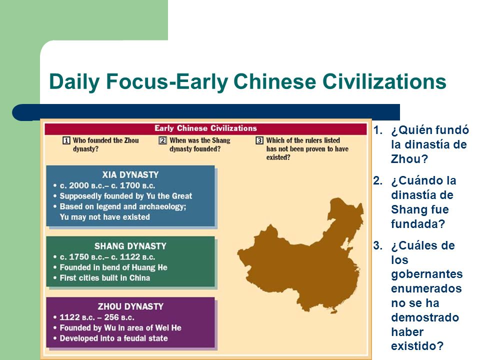 Daily Focus-Early Chinese Civilizations