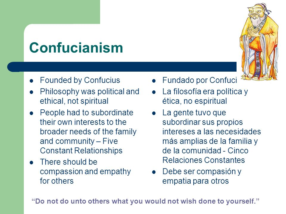 Confucianism Founded by Confucius