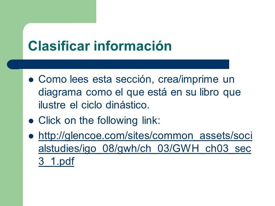 Clasificar información