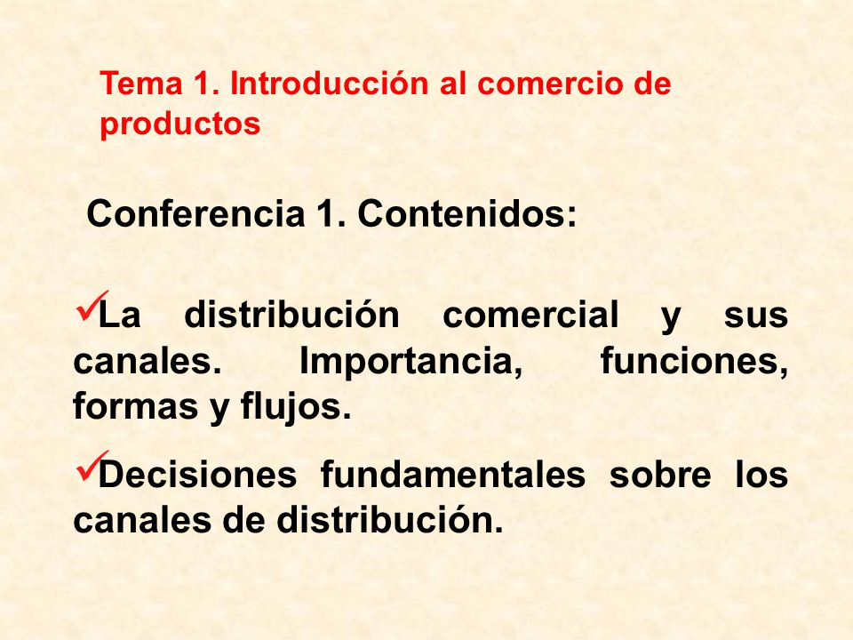 Conferencia 1. Contenidos: