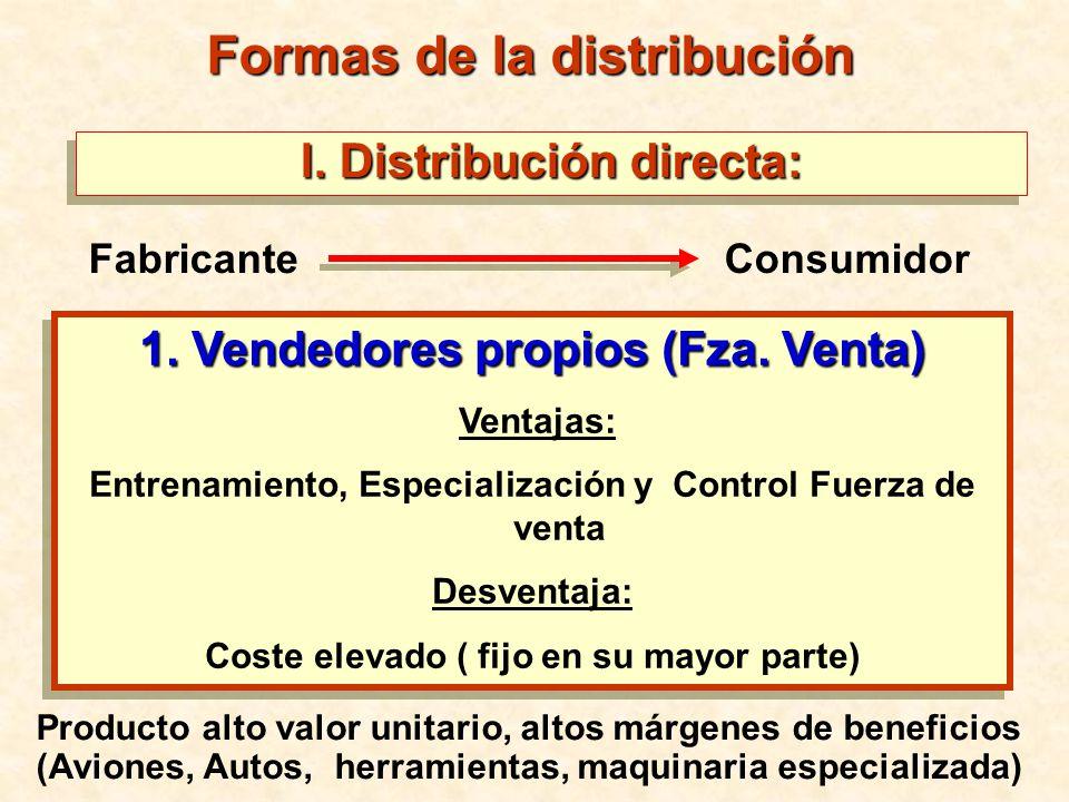 Formas de la distribución