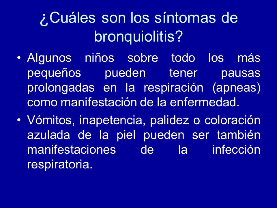 ¿Cuáles son los síntomas de bronquiolitis
