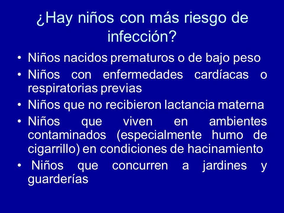¿Hay niños con más riesgo de infección