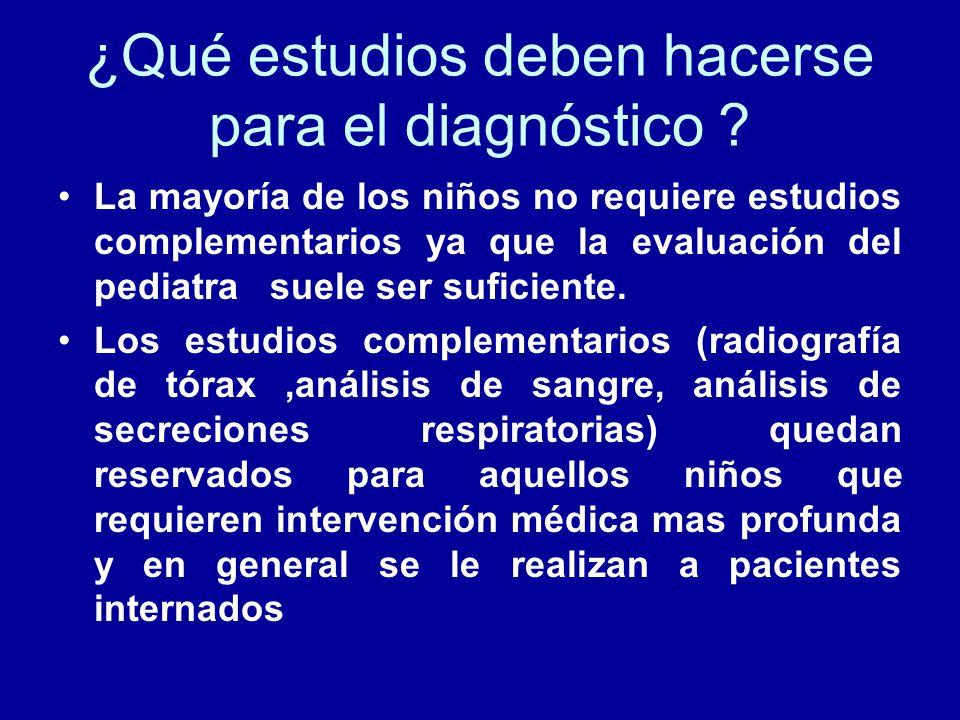 ¿Qué estudios deben hacerse para el diagnóstico