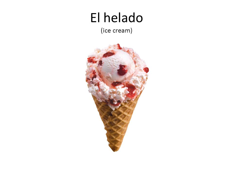 El helado (ice cream)