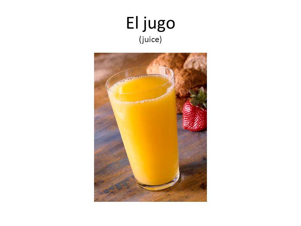 El jugo (juice)