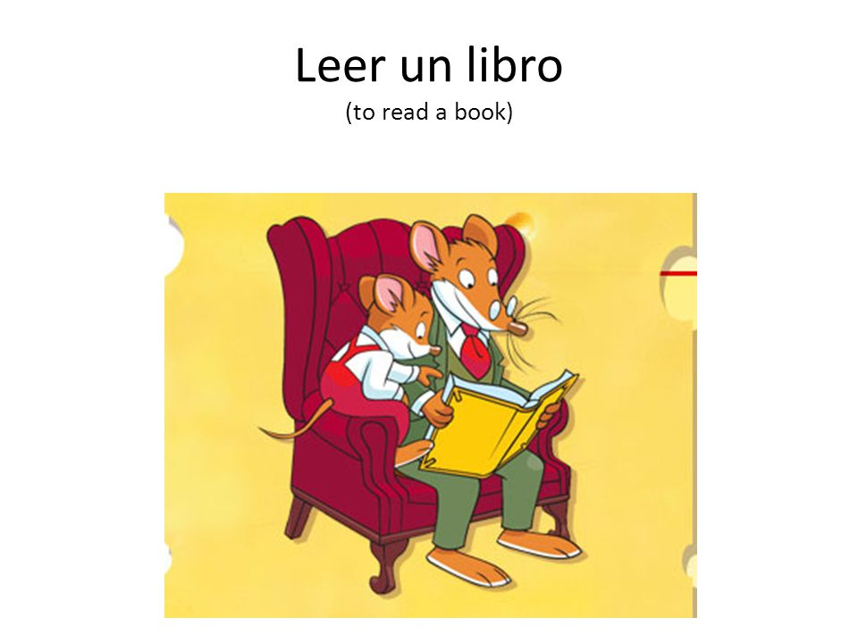 Leer un libro (to read a book)