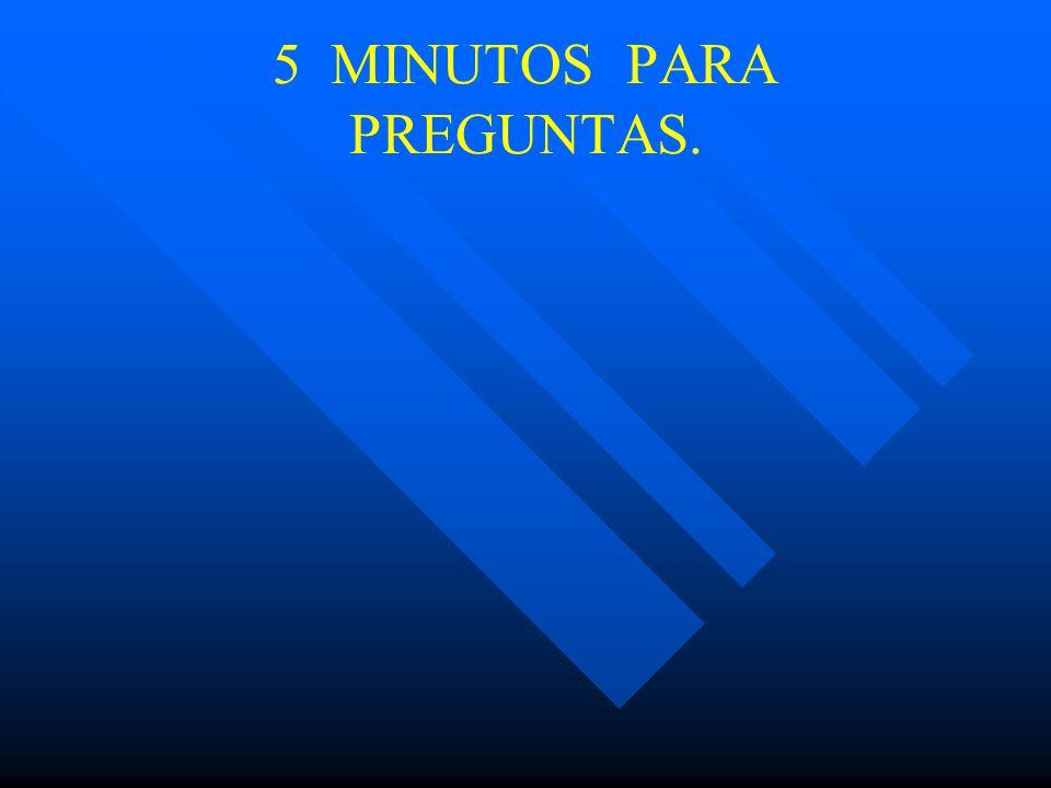 5 MINUTOS PARA PREGUNTAS.