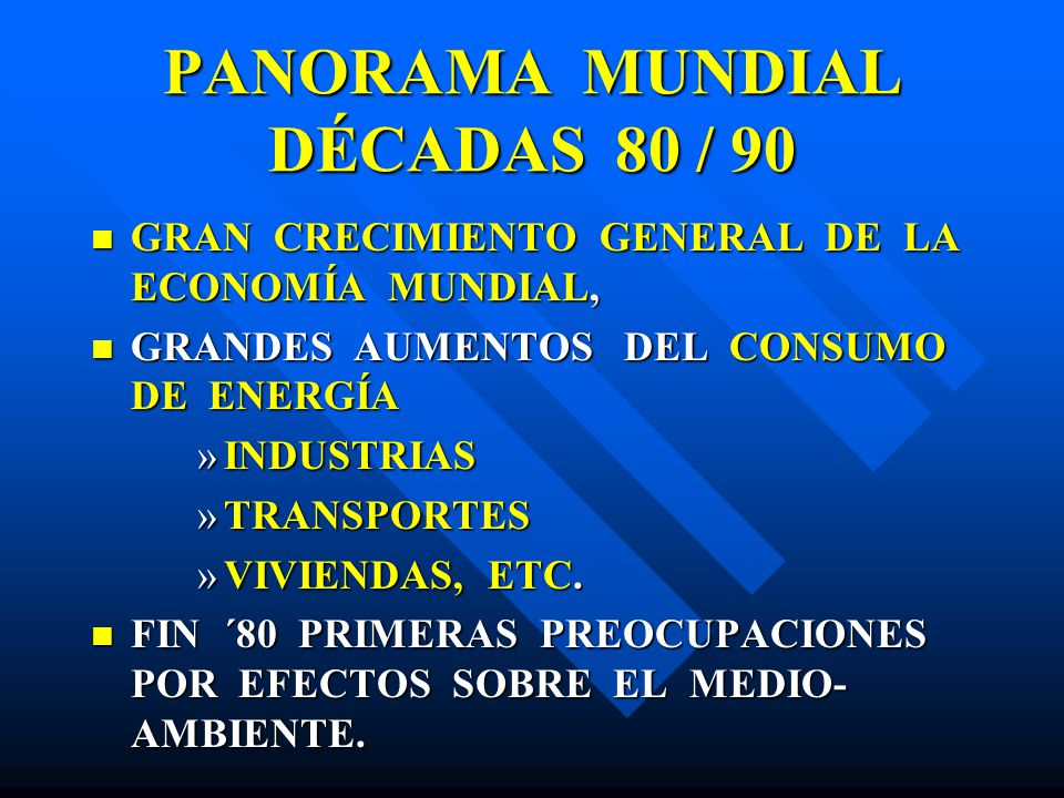 PANORAMA MUNDIAL DÉCADAS 80 / 90