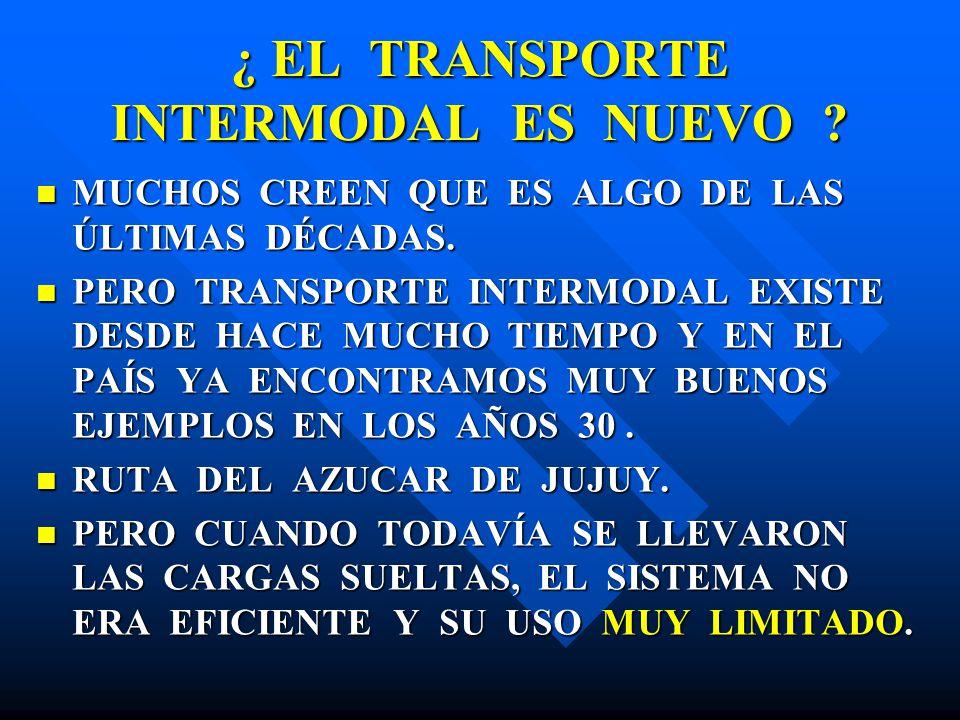 ¿ EL TRANSPORTE INTERMODAL ES NUEVO