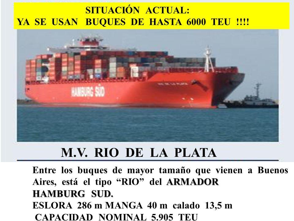 M.V. RIO DE LA PLATA SITUACIÓN ACTUAL: