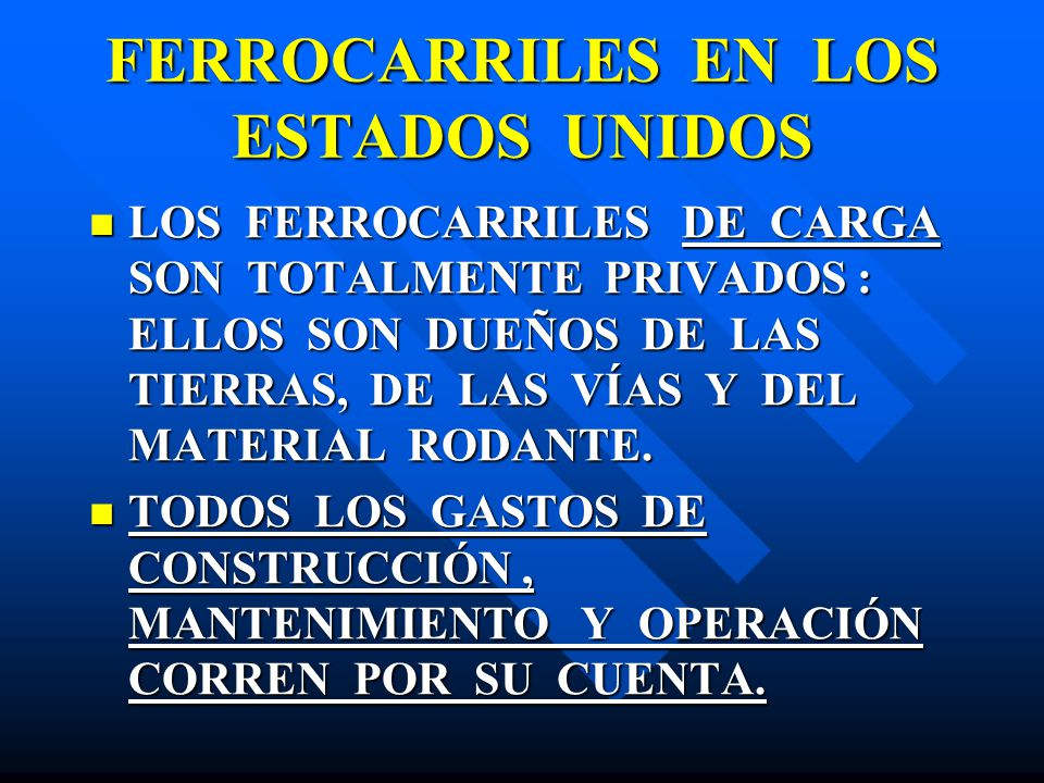 FERROCARRILES EN LOS ESTADOS UNIDOS
