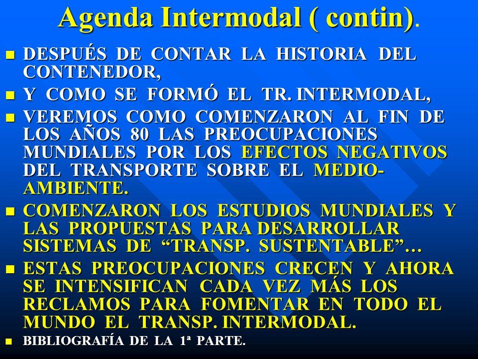 Agenda Intermodal ( contin).