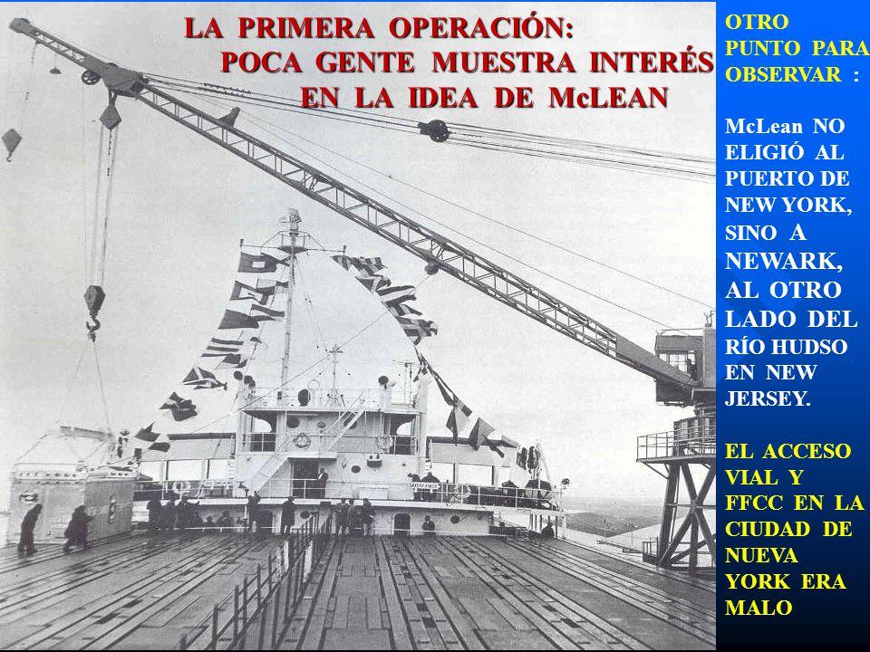 POCA GENTE MUESTRA INTERÉS EN LA IDEA DE McLEAN