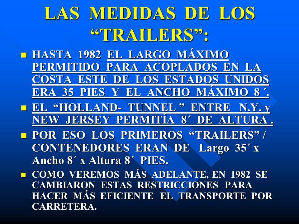 LAS MEDIDAS DE LOS TRAILERS :