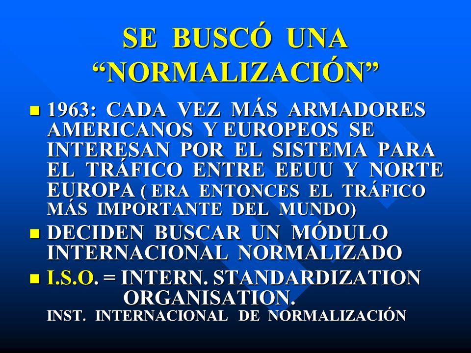 SE BUSCÓ UNA NORMALIZACIÓN