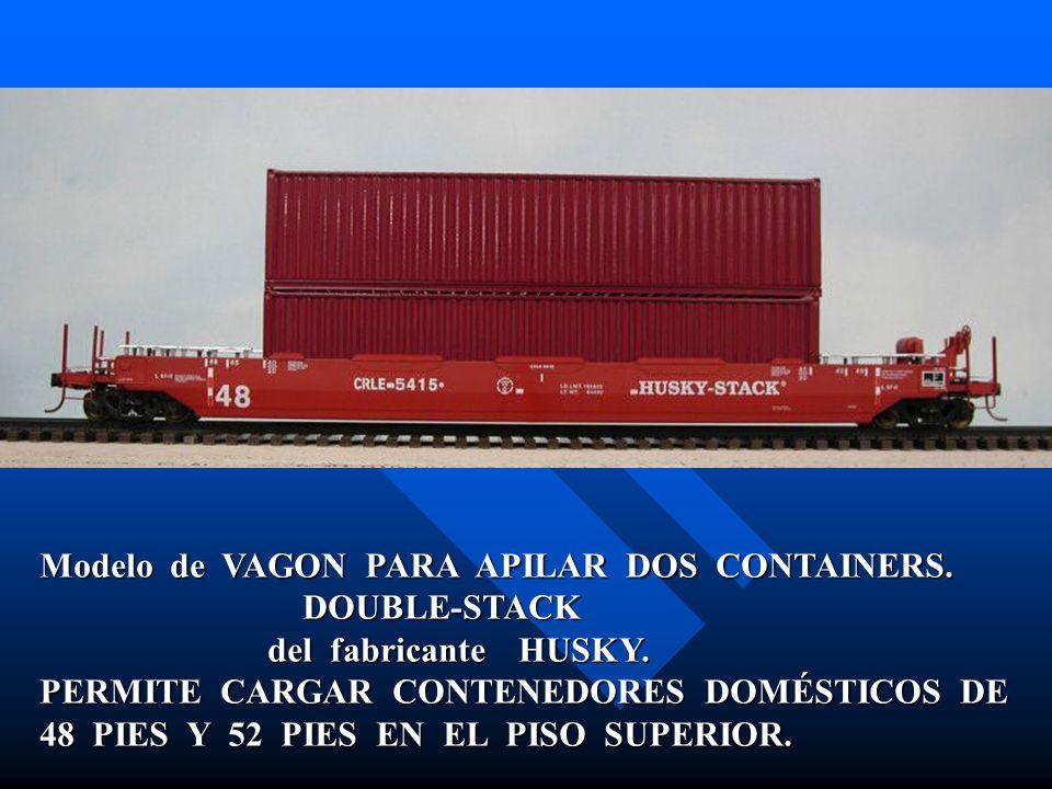 Modelo de VAGON PARA APILAR DOS CONTAINERS.