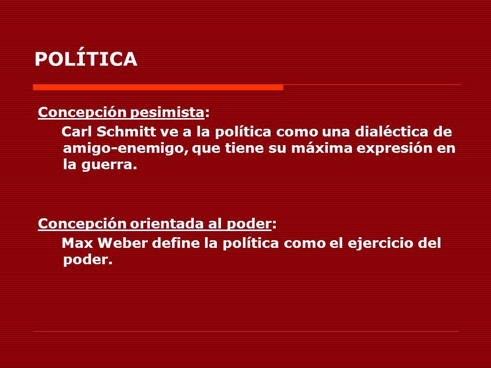 POLÍTICA Concepción pesimista:
