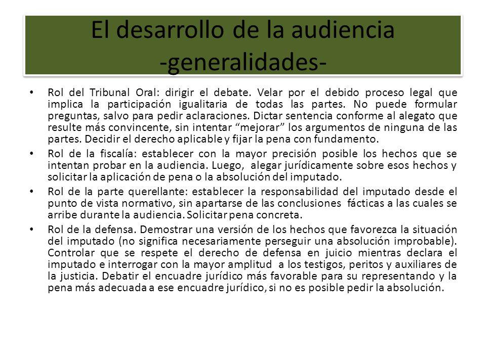 El desarrollo de la audiencia -generalidades-