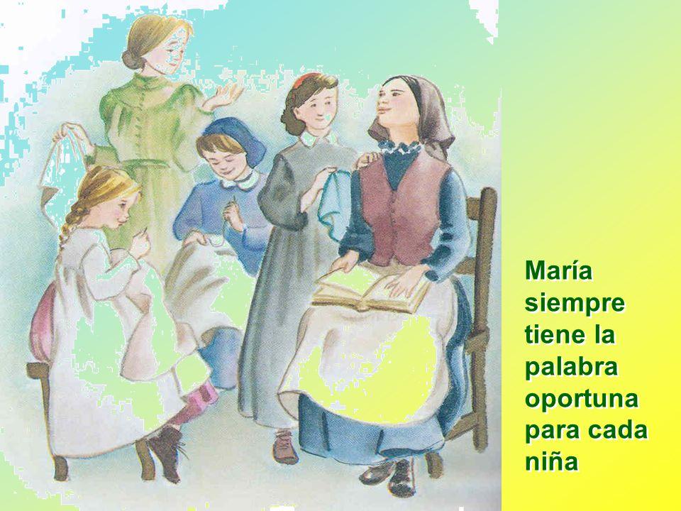 María siempre tiene la palabra oportuna para cada niña