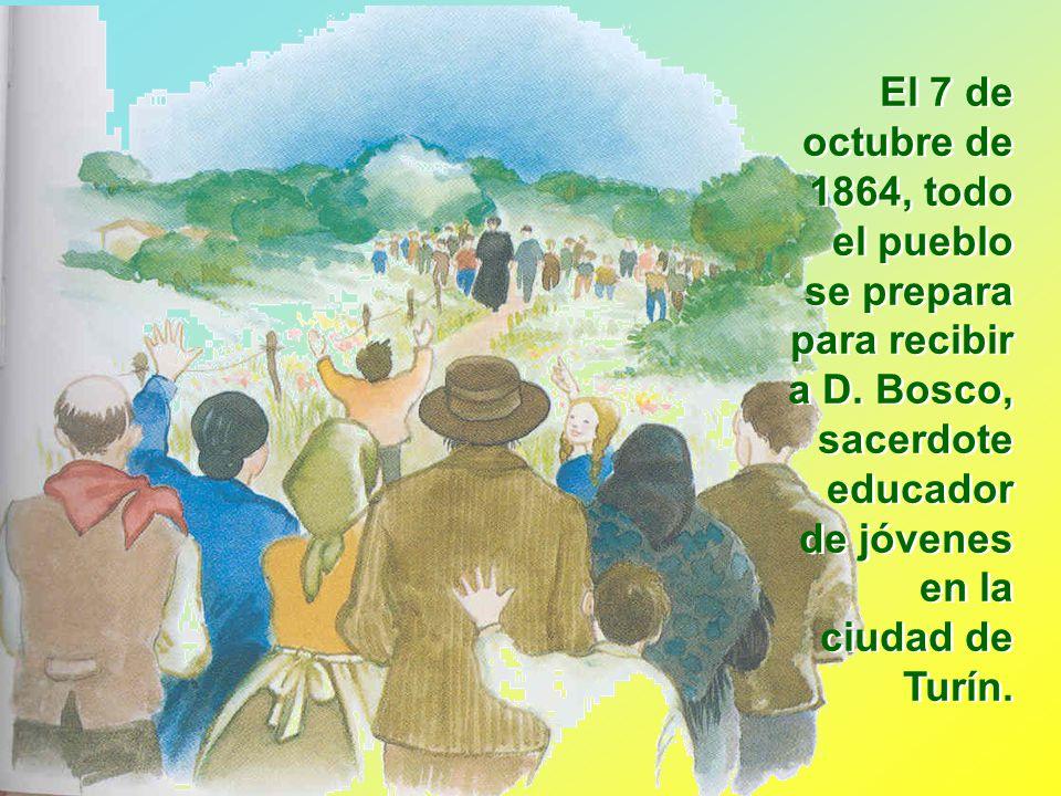 El 7 de octubre de 1864, todo el pueblo se prepara para recibir a D
