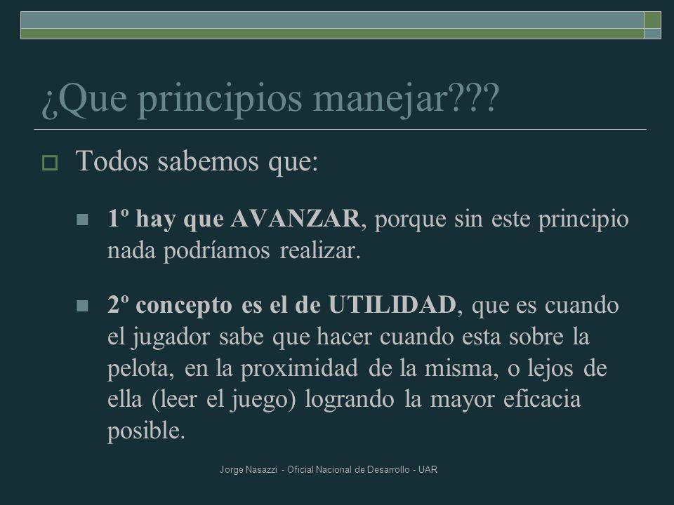¿Que principios manejar