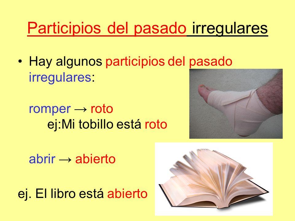 Participios del pasado irregulares