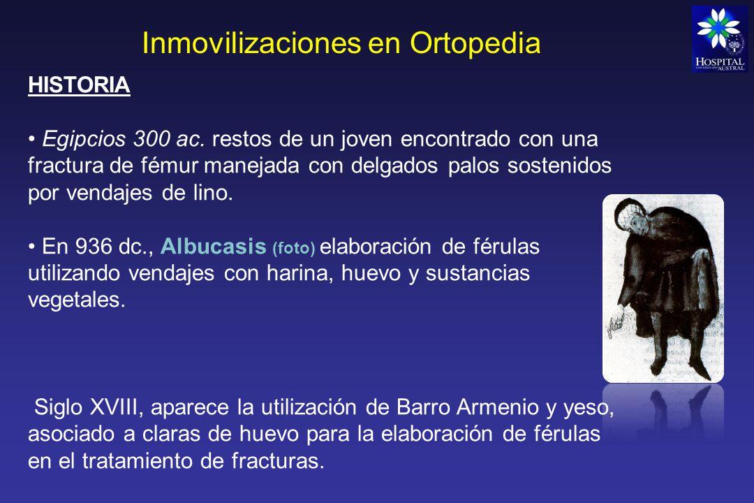 Inmovilizaciones en Ortopedia