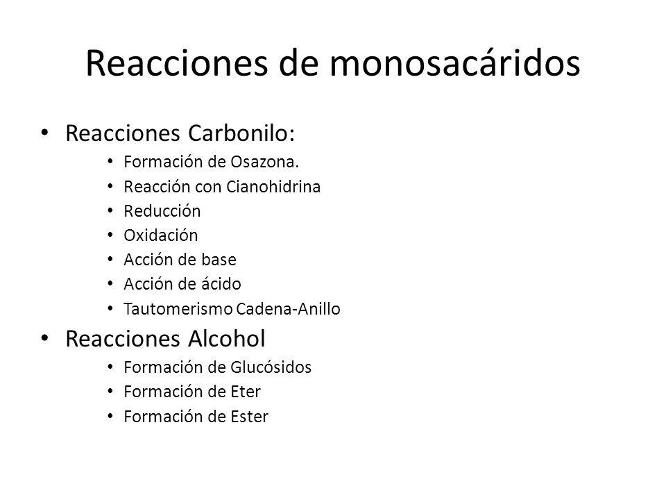 Reacciones de monosacáridos