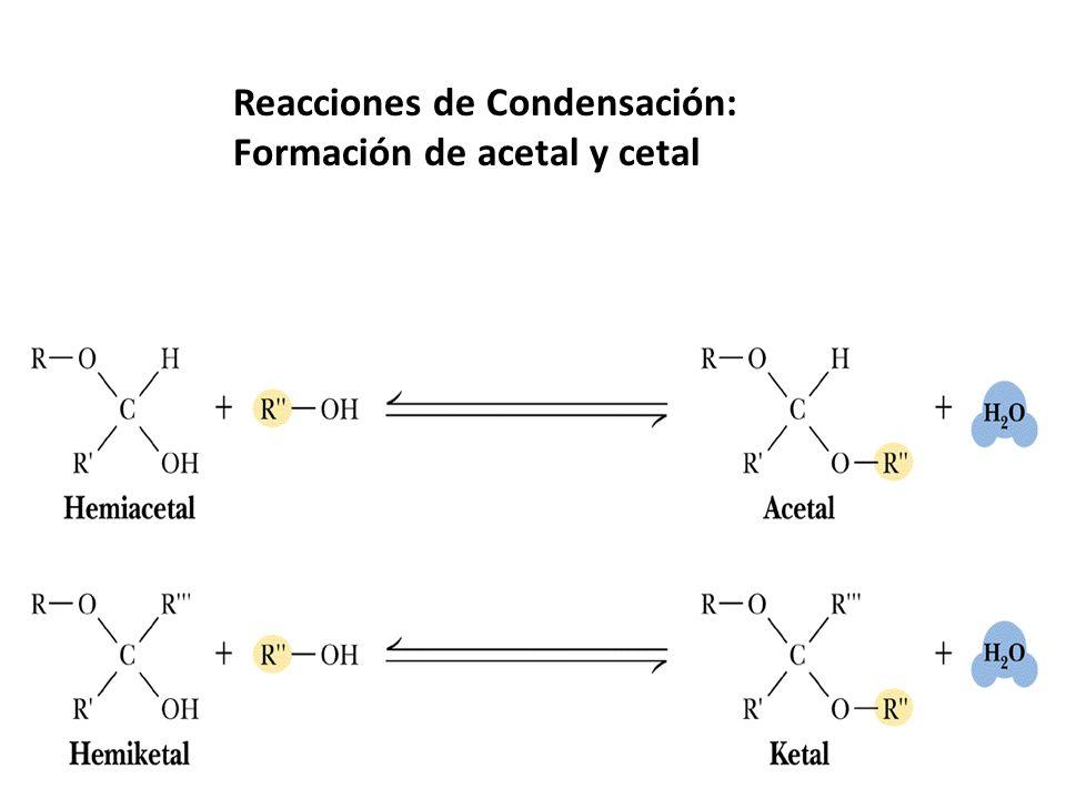 Reacciones de Condensación: