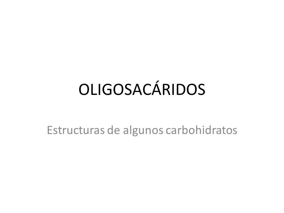 Estructuras de algunos carbohidratos