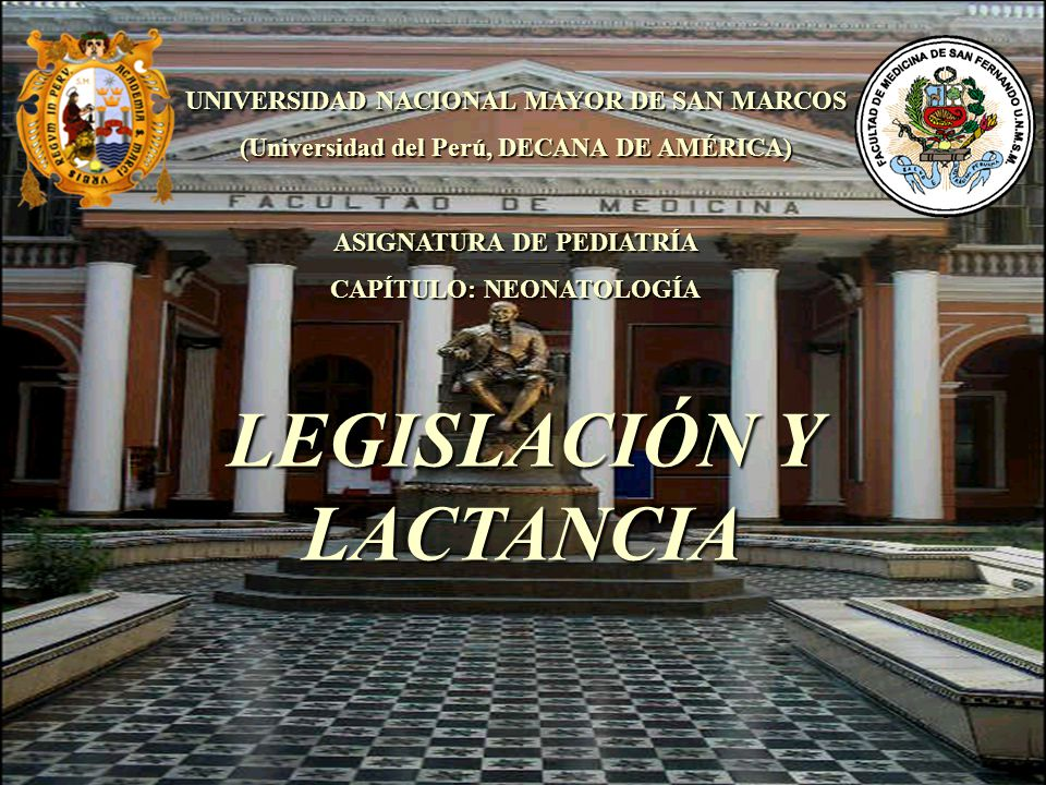 LEGISLACIÓN Y LACTANCIA