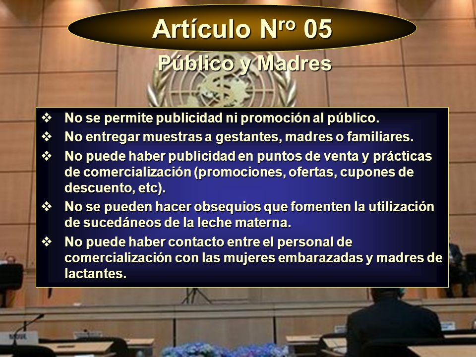 Artículo Nro 05 Público y Madres