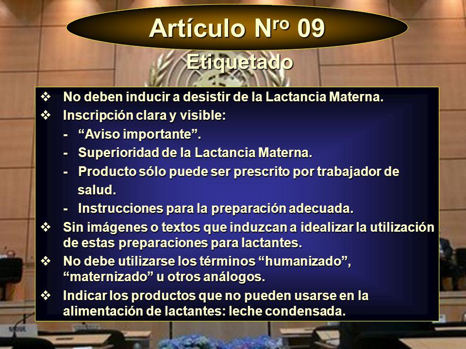 Artículo Nro 09 Etiquetado