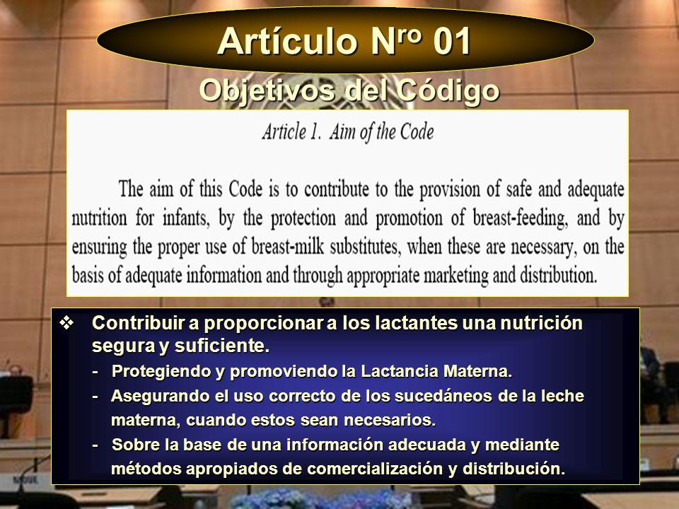 Artículo Nro 01 Objetivos del Código